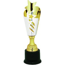 Silver/Gold Star Metal Cup Trophy on Plastic Base
